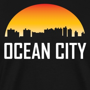 Ocean City Maryland Sunset Skyline - Men's Premium T-Shirt