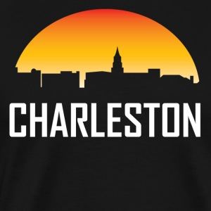 Charleston South Carolina Sunset Skyline - Men's Premium T-Shirt