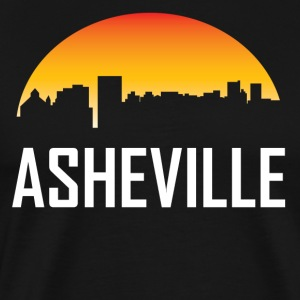 Asheville North Carolina Sunset Skyline - Men's Premium T-Shirt