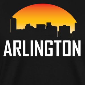 Arlington Texas Sunset Skyline - Men's Premium T-Shirt