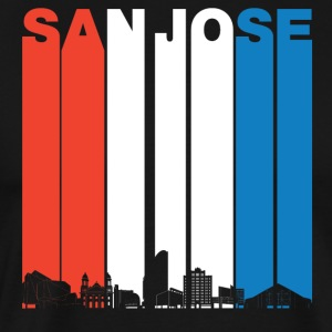 Red White And Blue San Jose California Skyline - Men's Premium T-Shirt