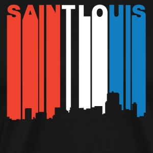 Red White And Blue Saint Louis Missouri Skyline - Men's Premium T-Shirt