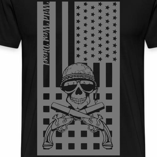 Skull and Gun Flag - Men's Premium T-Shirt