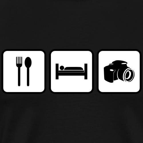 eat sleep photography - Men's Premium T-Shirt