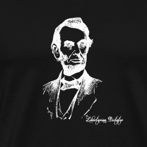 Honest Abe Reverse Image - Men's Premium T-Shirt