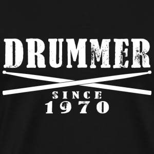 Drummer T-Shirt - Drummer Since 1970 - Men's Premium T-Shirt