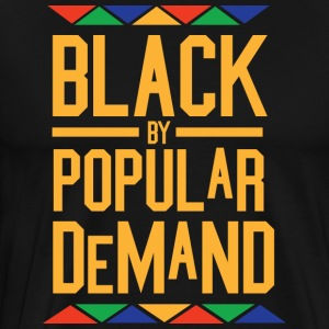 Black By Popular Demand - Tribal (Golden Letters) - Men's Premium T-Shirt