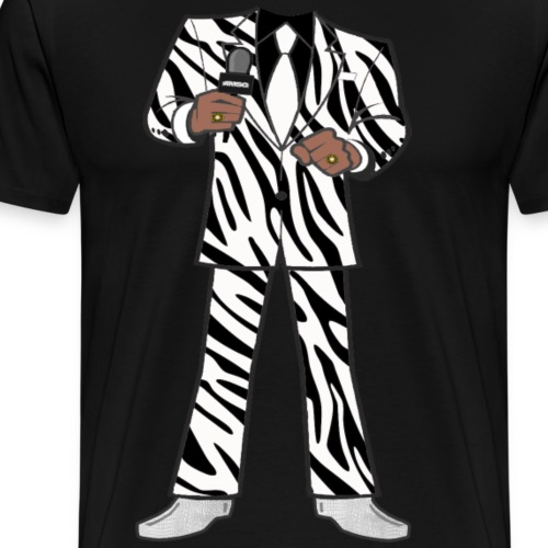 The Zebra Suit - Men's Premium T-Shirt