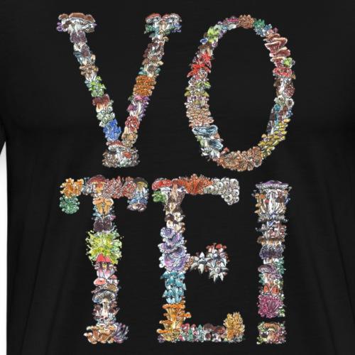 VOTE! / midterm elections / mushrooms - Men's Premium T-Shirt