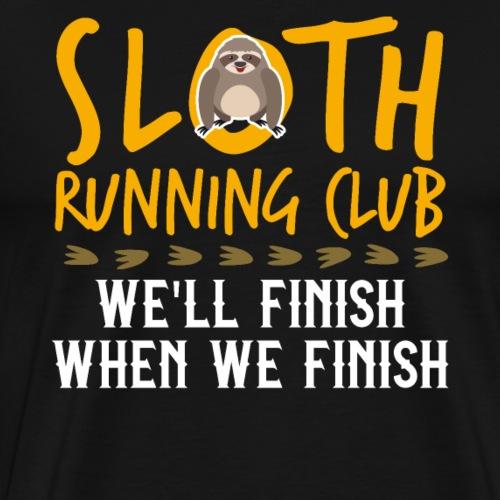 SLOTH RUNNING CLUB - Men's Premium T-Shirt