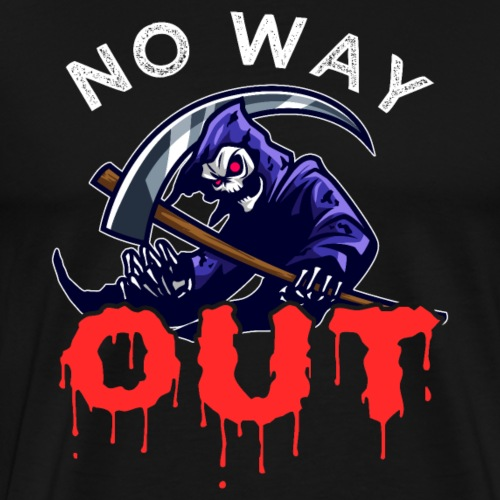 Grim Reaper   No Way Out - Men's Premium T-Shirt
