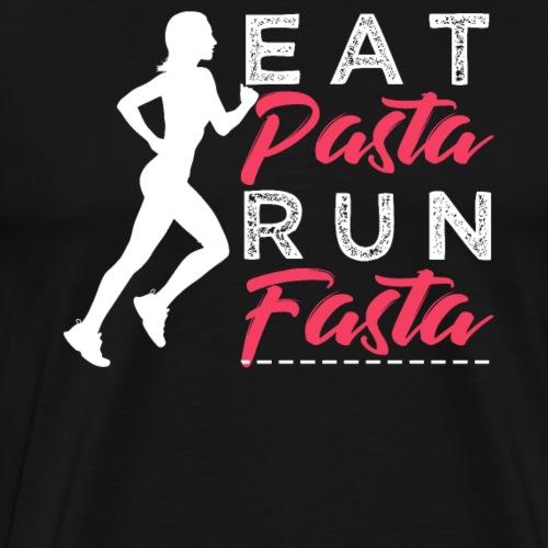 Eat Pasta Run Fasta - Men's Premium T-Shirt