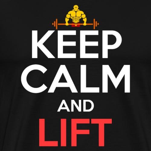 Keep Calm And Lift - Men's Premium T-Shirt