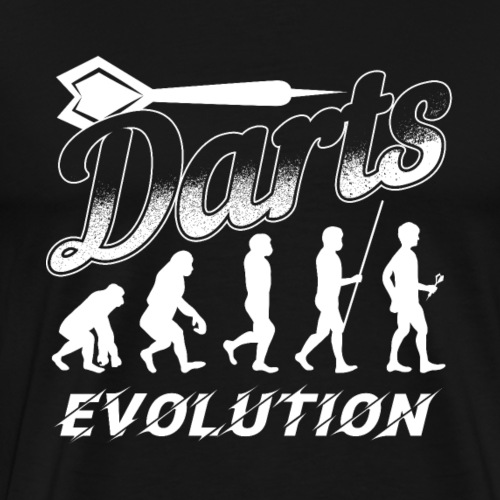Darts Evolution | Dart Player Gift - Men's Premium T-Shirt