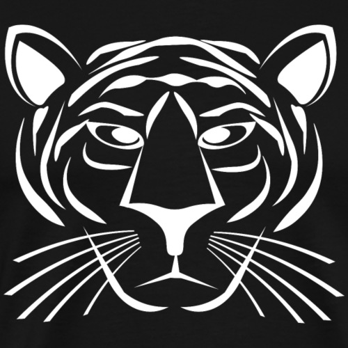 Tiger Face - White - Men's Premium T-Shirt