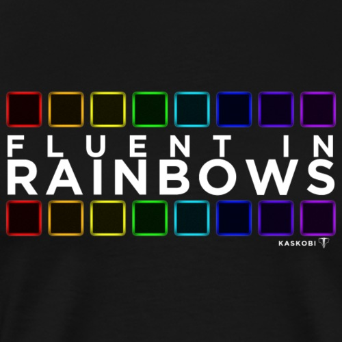 Fluent In Rainbows // Kaskobi - Men's Premium T-Shirt