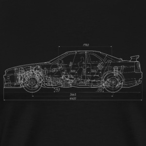 Skyline GT-R R34 Blueprint - Men's Premium T-Shirt