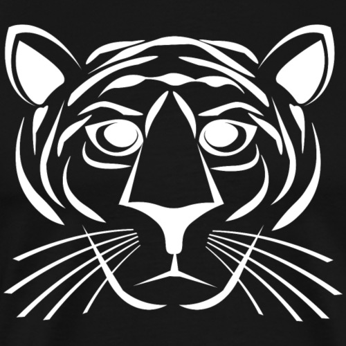 Tiger - White - Men's Premium T-Shirt