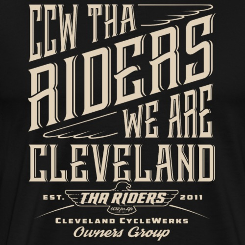 Tha Riders Cleveland Stacked Motorcycle design - Men's Premium T-Shirt