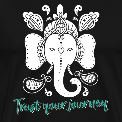 Trust Your Journey Ganesha Yoga - Men's Premium T-Shirt