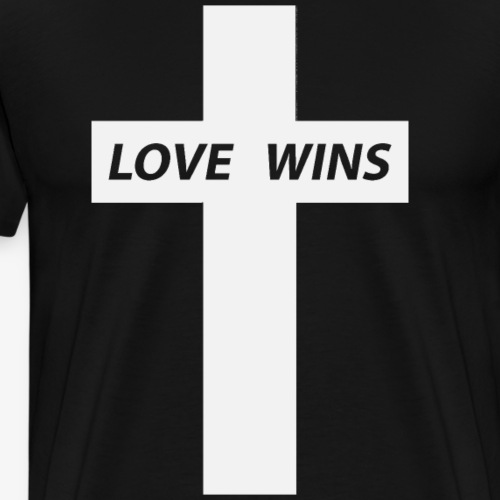 Love Wins (White) - Men's Premium T-Shirt