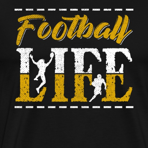 Football LIFE Retro Style - Men's Premium T-Shirt