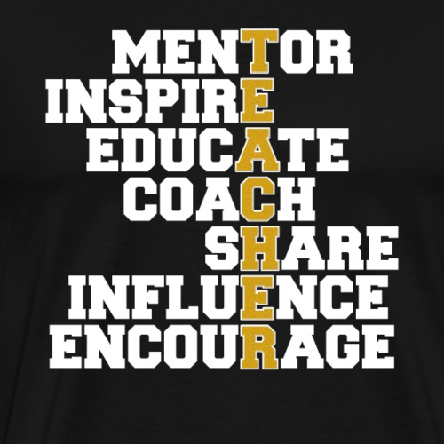 Awesome Teacher Mentor Coach - Men's Premium T-Shirt