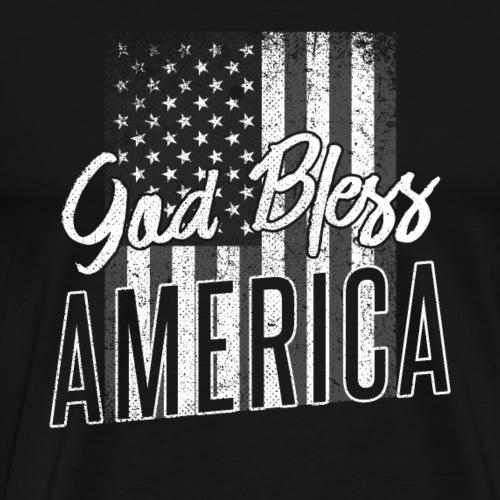 God Bless America Patriotic 4th of July - Men's Premium T-Shirt