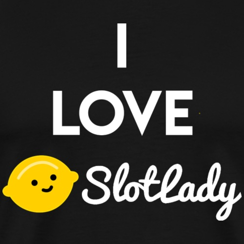 I Love Slotlady (White) - Men's Premium T-Shirt