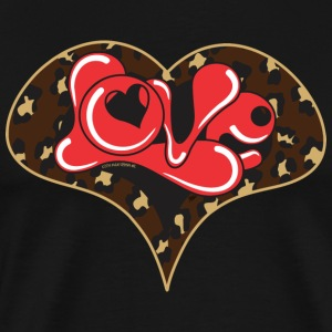 LEPOARD LOVE HEART - Men's Premium T-Shirt