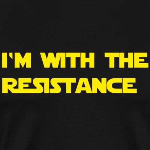 I'm with the resistance resistance - Men's Premium T-Shirt