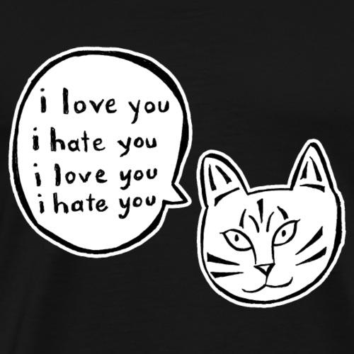 I love you I hate you - Men's Premium T-Shirt