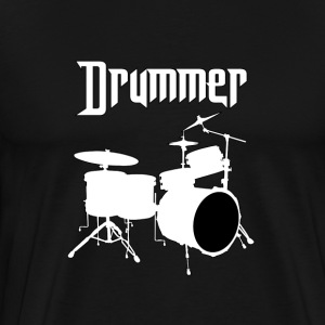 Drummer White - Men's Premium T-Shirt