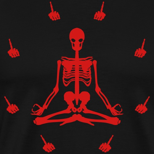 Meditation Fingers (Red) - Men's Premium T-Shirt