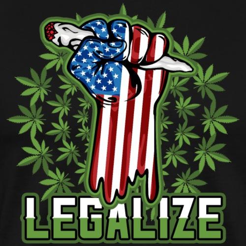 Legalize Marijuana Pot Smoker - Men's Premium T-Shirt