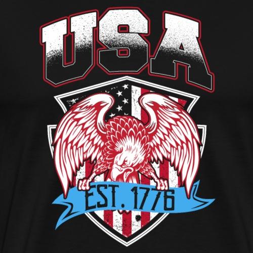 USA Established 1776 - Men's Premium T-Shirt