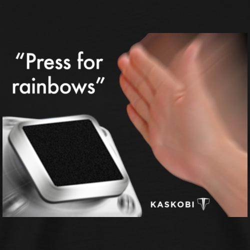 Press For Rainbows // Kaskobi - Men's Premium T-Shirt