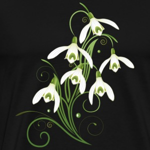 Snowdrops Flowers. Spring is coming. - Men's Premium T-Shirt