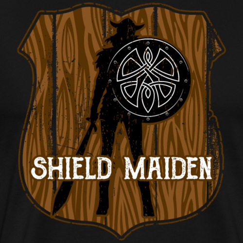 Viking Shield Maiden - Men's Premium T-Shirt