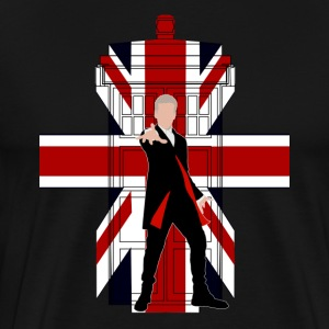 Union Jack British Flag with Doctor - Men's Premium T-Shirt