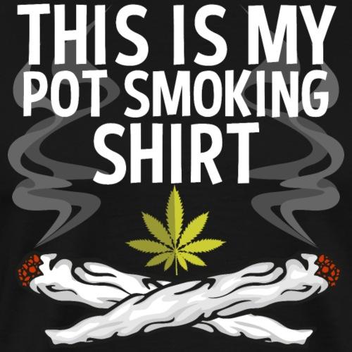 This Is My Pot Smoking Shirt - Men's Premium T-Shirt