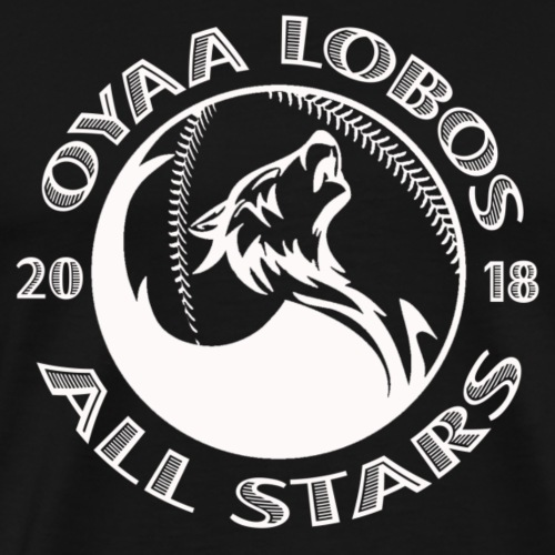 Lobos All Stars White Logo - Men's Premium T-Shirt