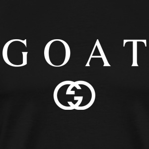 Goat - G Designer Design (White) - Men's Premium T-Shirt