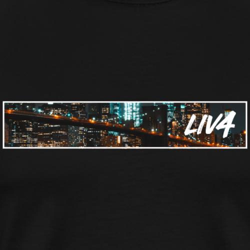 CITY: New York (Brooklyn Bridge) - Men's Premium T-Shirt