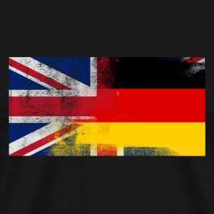 British German Half Germany Half UK Flag - Men's Premium T-Shirt