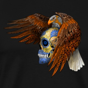 indian native eagle sugar Skull - Men's Premium T-Shirt