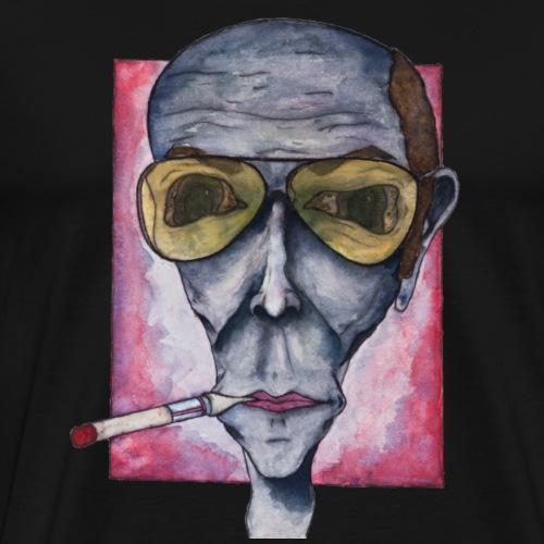 Hunter S Thompson - Gonzo Portrait - Men's Premium T-Shirt