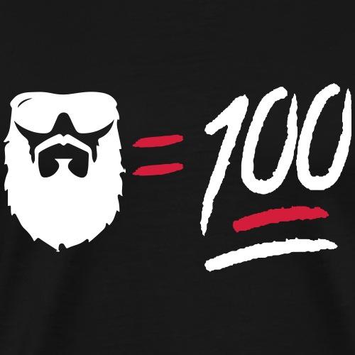 Beard 100 - Men's Premium T-Shirt