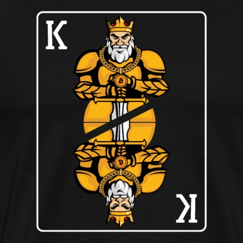 Bitcoin (BTC) Cryptocurrency King - Men's Premium T-Shirt