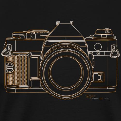 Camera Sketches - Canon AE1 Program - Men's Premium T-Shirt